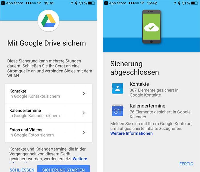 Google Von Ios Zu Android Wechseln