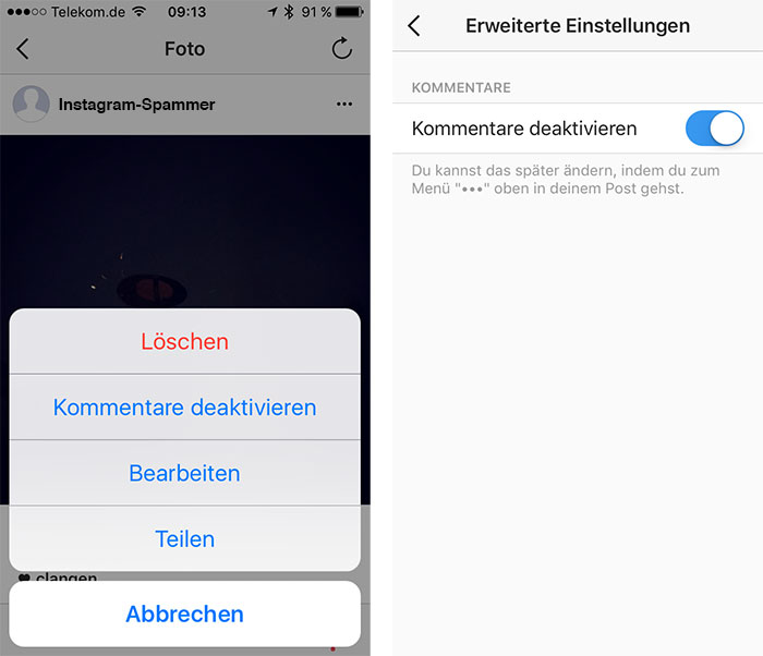 Instagram Kommentare Blocken