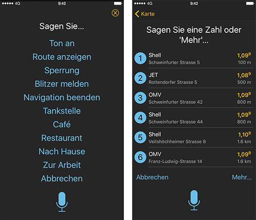 Navigon Sprachsteuerung Iphone Screenshots