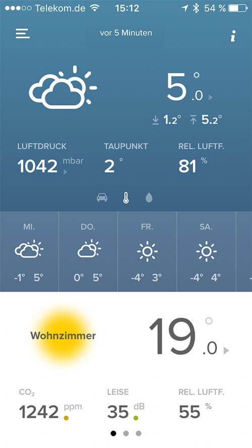 Netatmo Wetterstation App