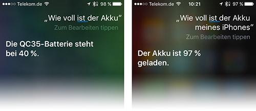 Siri Sagt Akku Stand An