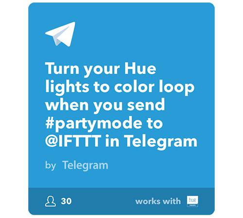 Telgram Ifttt Hue