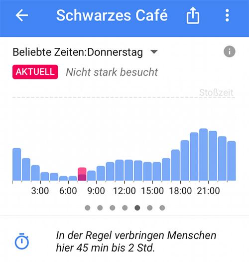 Google Maps Echtzeit Infos