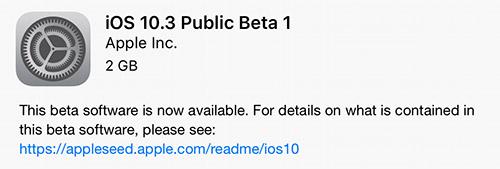 Ios 10 3 Public Beta 1