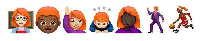Rothaarige Emoji
