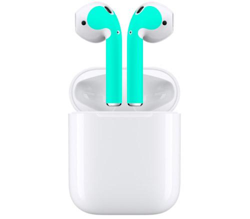 Farbige airpods dank beschichtung und klebefolien iphone for Farbige klebefolien