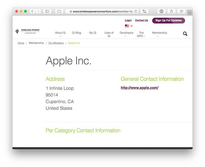 Apple Verband Qi