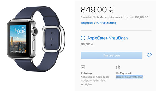 Apple Watch Nicht Verfuegbar