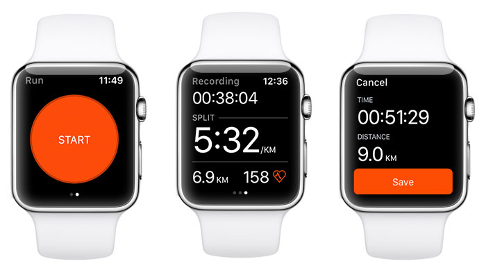 Apple Watch Strava Screenshots