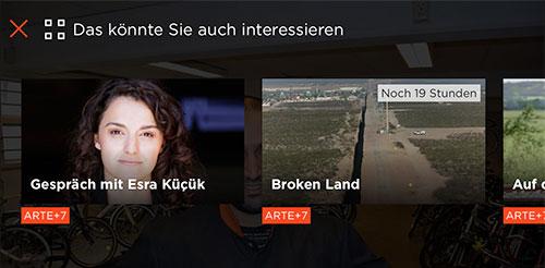 Arte App Vollbild