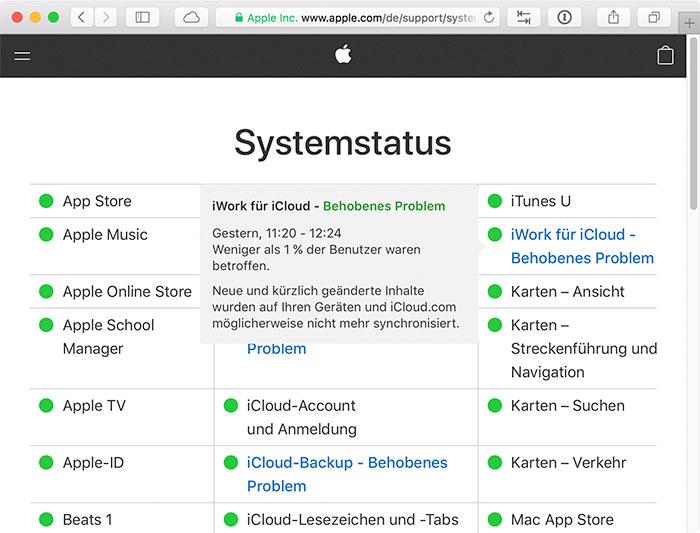 Systemstatus 700