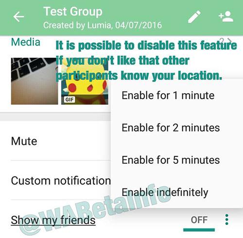 Whatsapp Standortfreigabe