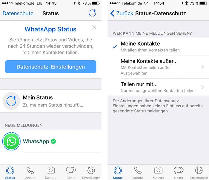 Whatsapp kein profilbild aber status sichtbar
