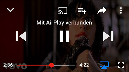 Youtube Airplay Streaming
