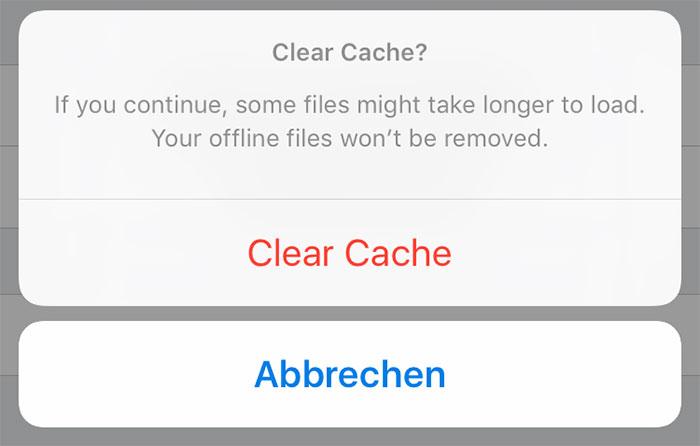 Cache Dropbox