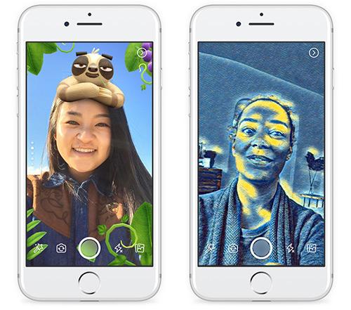Facebook Kamera Effekte