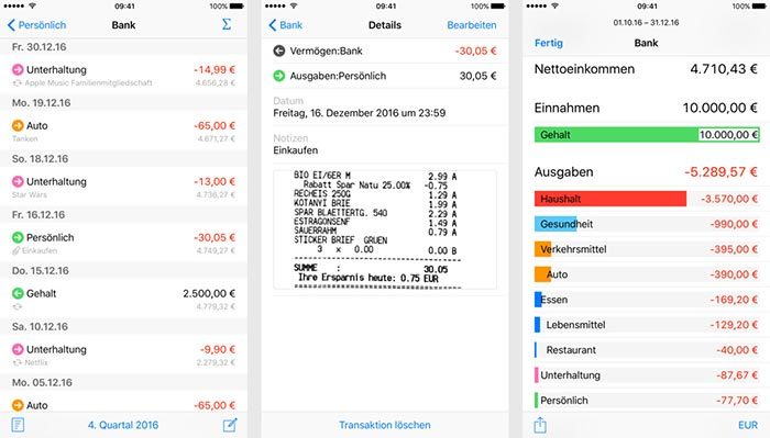 Finanzen App Screens