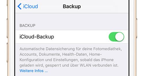 Iphone Icloud Backup Aktivieren