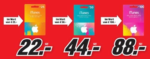 Media Markt Itunes Karten Rabatt