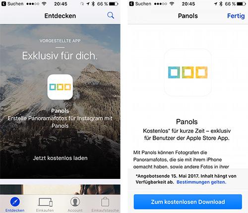 Panols App Iphone