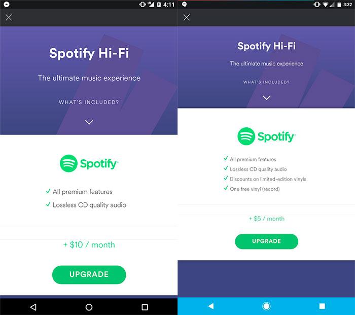 Spotify Hi Fi