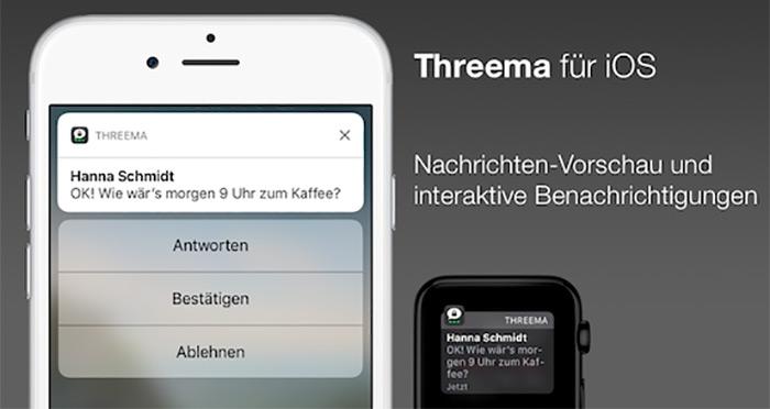 Threema Interaktive Nachrichten