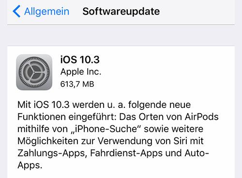 IOS 10.3 und MacOS 10.12.4 sind da - das alles ist neu