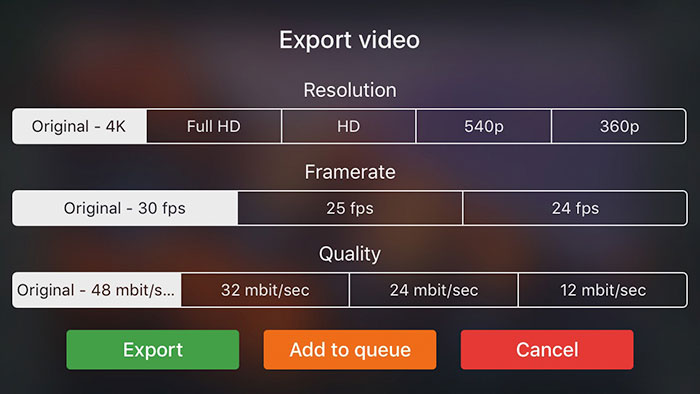 Videograde Export