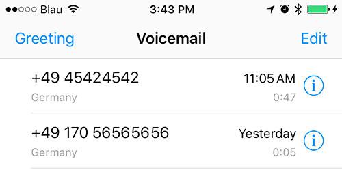 Voicemail Blau