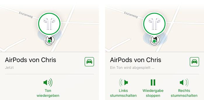 Airpods Finden Ton Abspielen