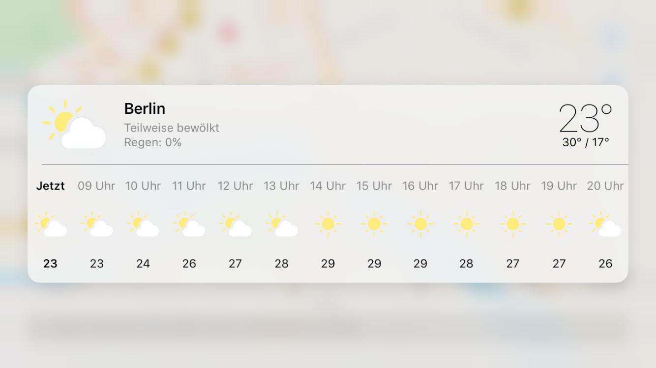 Karte Wetter