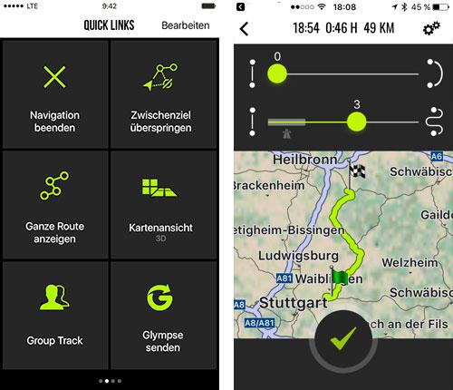 Navigon Cruiser App Screenshots