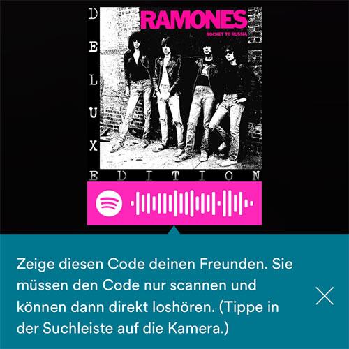 Spotify Codes: Musik schnell per Barcode teilen