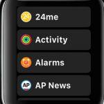 App Liste Apple Watch