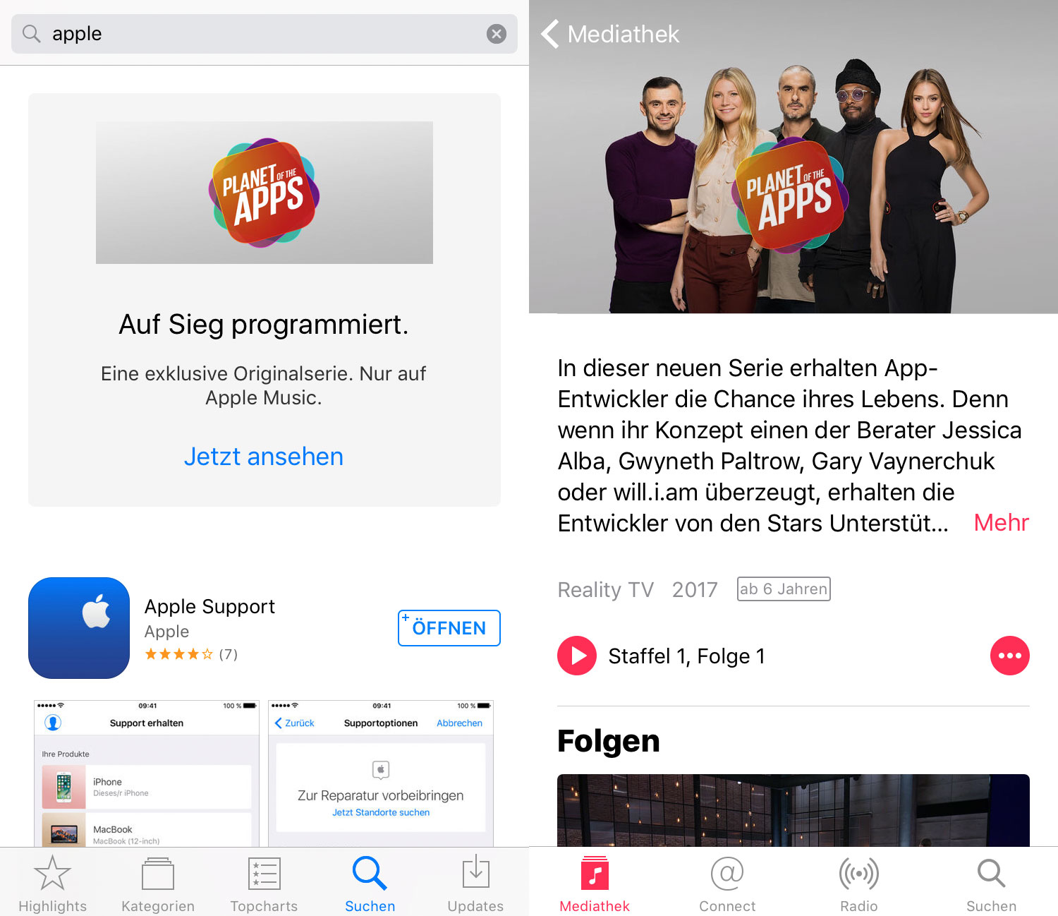 Apple Werbung Music
