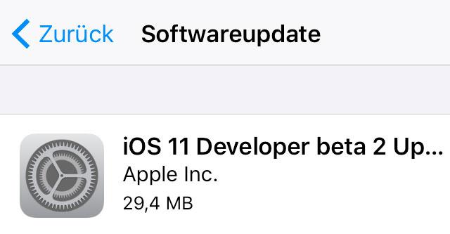 Beta Update Ios 11