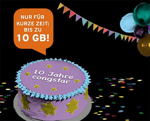 Datenturbo bei Congstar: Bis zu 10 GB Datenvolumen