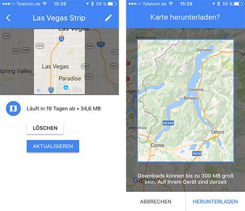 Google Maps Offline Karten Laden