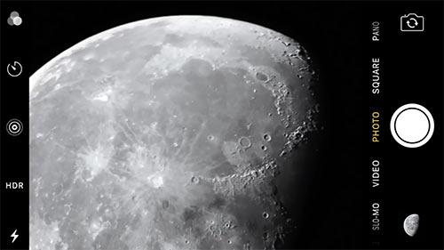 Iphone Kamera Mond