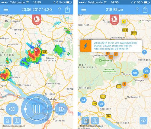 Kachelmann Wetter Radar App