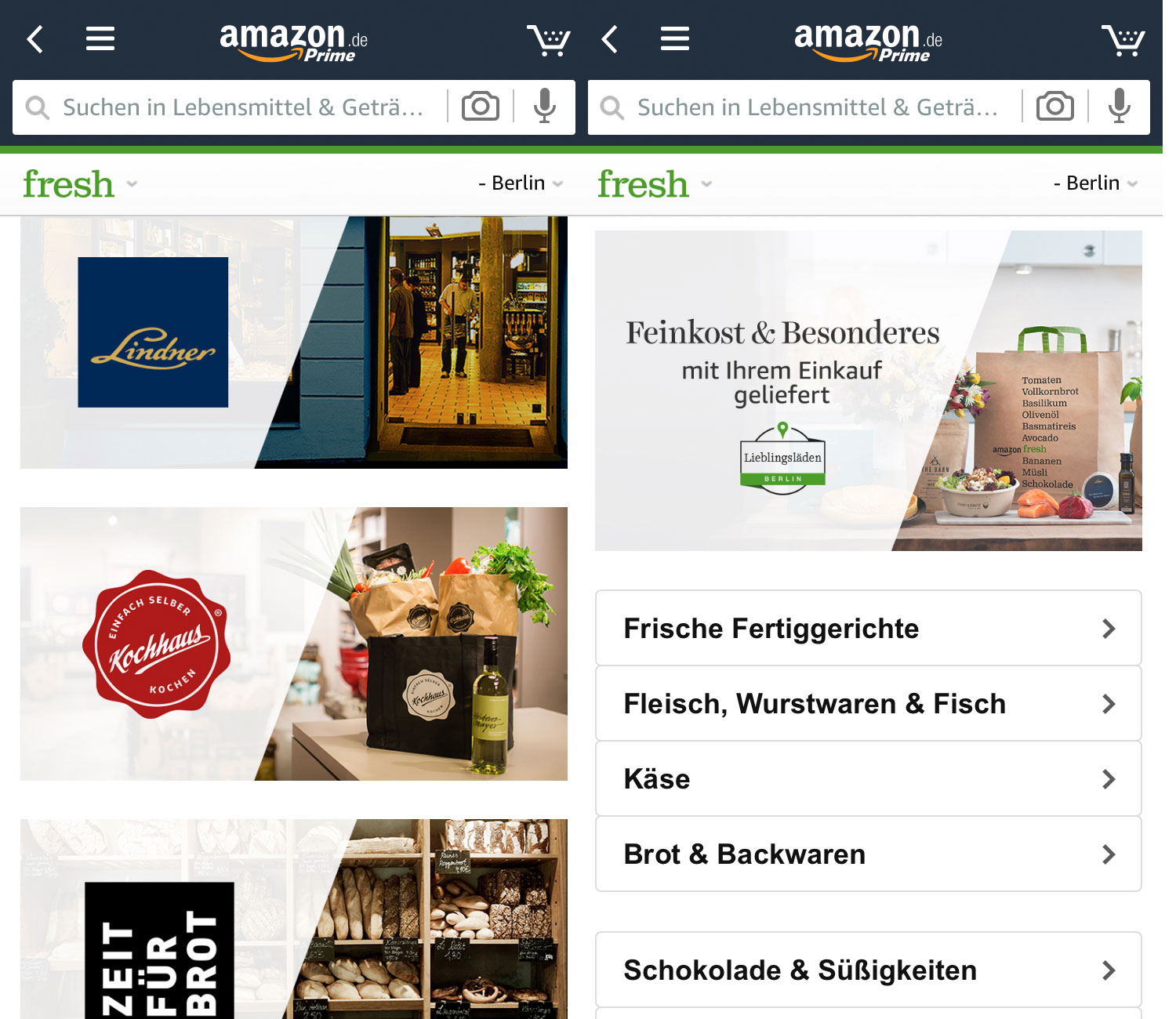 Lebensmittel Amazon Fresh