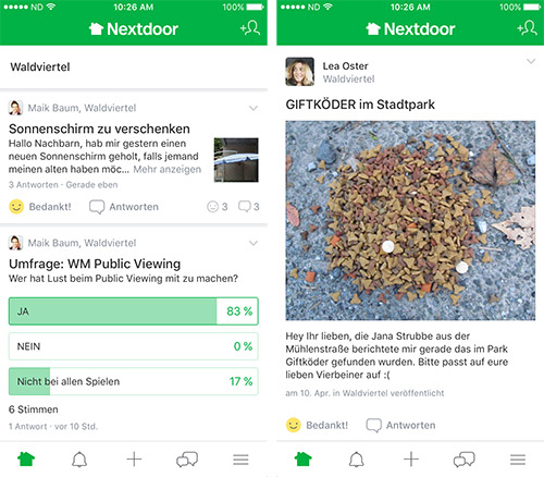Nextdoor App Screenshots