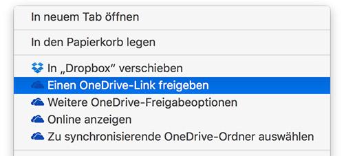 Onedrive Mac Finder Erweiterung