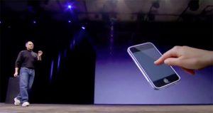 Steve Jobs Iphone Touchscreen