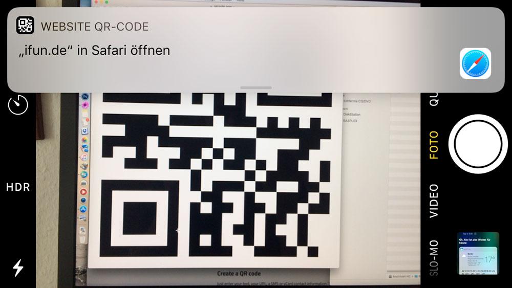 Webseite Qr