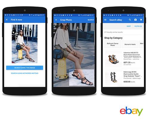 EBay-Produkte mithilfe von Fotos suchen und kaufen