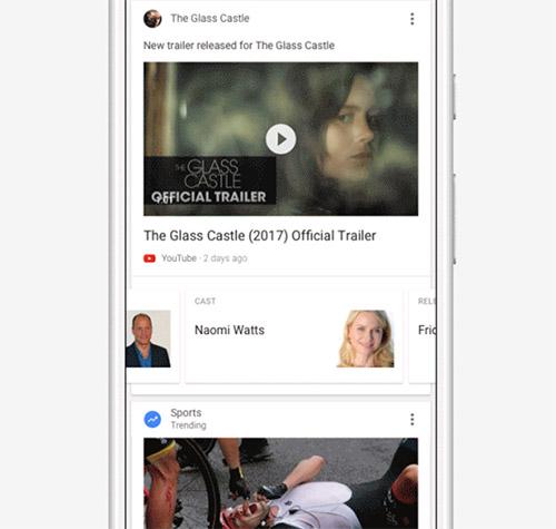 Google Feed Screenshot