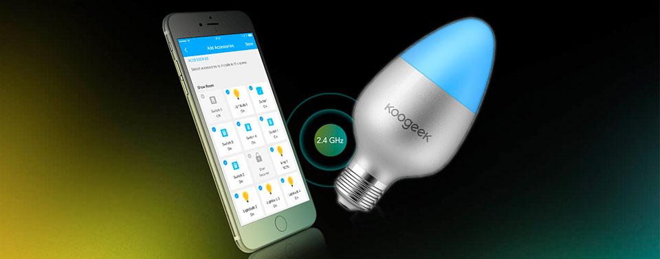koogeek smart light bulb erh ltlich neue homekit lampen ohne bridge iphone. Black Bedroom Furniture Sets. Home Design Ideas