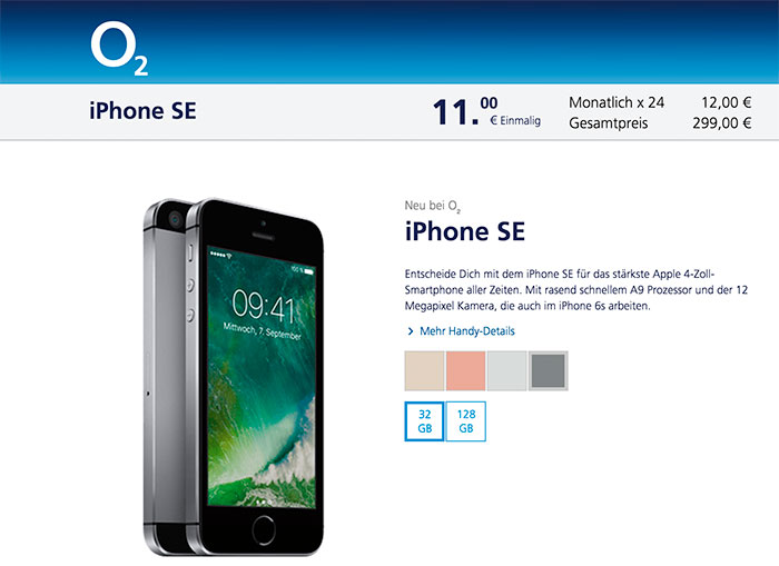 O2 Iphone Se