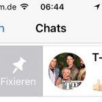 Whatsapp Chats Fixieren